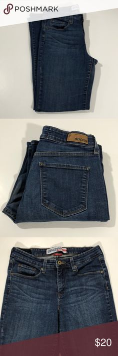 """Levi's Denizen Totally Shaping Boot Cut Jeans Excellent condition. Some fading in seat, back of legs and on back of one leg above hem. One hem slightly bent. Mid rise, stretch, boot cut. Medium to Dark wash. Size 12 Medium. 99% cotton, 1% elastane. Waist about 28"""", rise about 10"""", inseam about 29.5"""". 632 Levi's Jeans Boot Cut"""