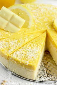 SERNIK CYTRYNOWY Z PANNA COTTĄ MANGO - bez białego cukru! Fruit Recipes, Dessert Recipes, Vegan Junk Food, Tasty, Yummy Food, Vegan Smoothies, Vegan Kitchen, Vegan Sweets, Sweet Desserts
