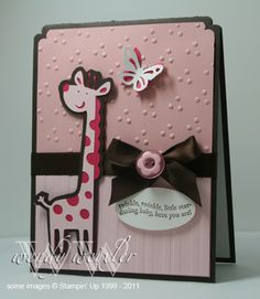 Create a Critter giraffe. Like it in pink for a girl