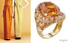 ORANGE - MORAGLIONE 1922 GRACE COLLECTION - CITRINE RING WITH DIAMONDS AND ORANGE SAPPHIRE #italy #orange #citrine #luxury #jewels #diamonds #sapphire #moraglione1922 #fashion #Moraglione