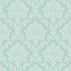 Fine Decor Textured Wallpaper FD40624 Burlington Damask Metallic Duck Egg