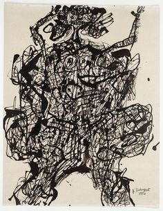 "Jean Dubuffet (French, 1901–1985)  Corps de Dame  Date:(June-December) 1950Medium:Ink on paperDimensions:10 5/8 x 8 3/8"" (27.0 x 21.2 cm)Cre..."