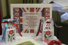 Made by Penny #tatteredlace #tealights #memorial #remembranceday
