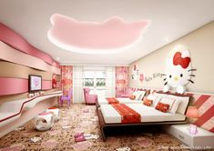 Hello Kitty Room ... When I was six, I would have looooved this.