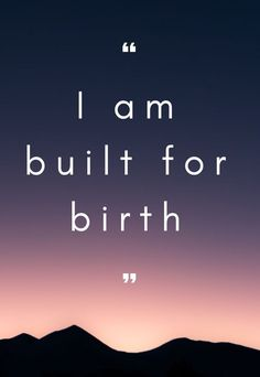 printable birth affirmations / Hypnobirthing Collective Melbourne