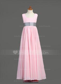 Junior Bridesmaid Dresses - $97.49 - Empire Square Neckline Floor-Length Chiffon Taffeta Junior Bridesmaid Dress With Sash (009022454) http://jenjenhouse.com/Empire-Square-Neckline-Floor-Length-Chiffon-Taffeta-Junior-Bridesmaid-Dress-With-Sash-009022454-g22454