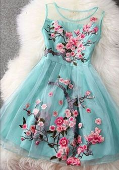Latest handmade organza embroidery flower party dresses from womens dresses