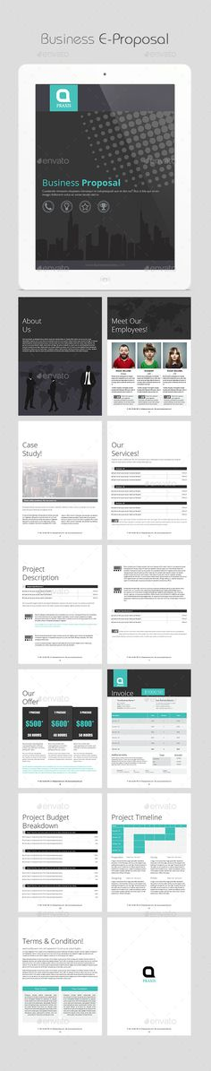 Business E-Proposal Template #ebook #businessebook Download: http://graphicriver.net/item/business-eproposal/11392311?ref=ksioks