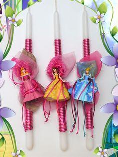 Πασχαλινές λαμπάδες Disney-Princess.