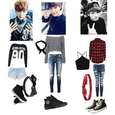 BTS Outfits by roslydragonfly on Polyvore featuring polyvore fashion style Lorna Jane Miss Selfridge Boohoo Current/Elliott rag & bone Zara Supra Converse Wet Seal Charlotte Russe