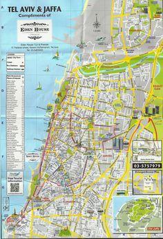 Tel Aviv Map large