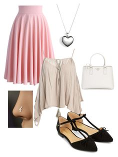 """""""Casual #2"""" by projectalice5 on Polyvore featuring Chicwish, Sans Souci, Accessorize, Pandora and Prada"""