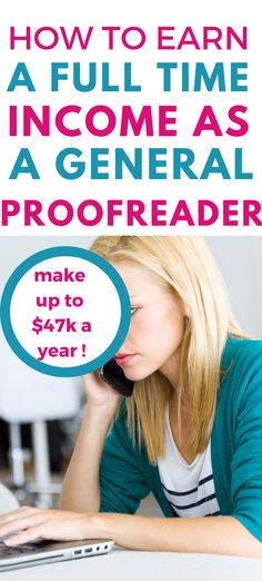Fantastic post thanks for posting this. Making a full time income as a general proofreader is perfect for me as a side hustle and an easy way to make some extra money especially in these hard times. Earn Extra Money Online, Earn More Money, Ways To Earn Money, Earn Money From Home, Make Money Fast, Money Tips, Money Hacks, Online Side Jobs, Legit Online Jobs