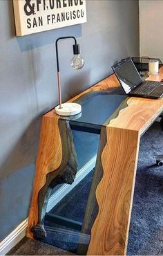 U - # Holzbearbeitung - Holz DIY Ideen Tables with storage farmhouse Freies verschiffen, foto bar foto bar foto regal regale schwimm regale holz regal regal … - Holz DIY Ideen Easy Woodworking Projects, Woodworking Wood, Wood Projects, Grizzly Woodworking, Woodworking Inspiration, Craft Projects, Wood Resin Table, Wooden Tables, Resin Furniture