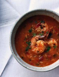 Puerto Rican Shrimp Gumbo (Asopao de Camarones) by thejewelsofny: http://tinyurl.com/6ztusqz  #Soup #Srimp_Gumbo #Asopao_de_Camarones