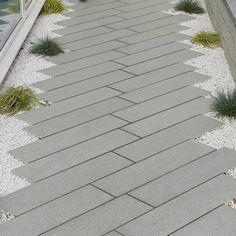 jardin paysager : allée moderne en dalles de granit