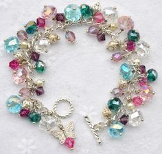 The gemstones are truly 'wire wrapped ' on!  Artiste!