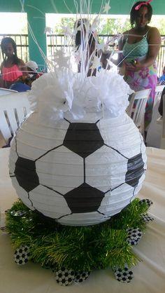 Soccer Ball Paper Lantern Centerpiece