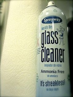 Sprayway Glass Cleaner. Streak free even if used on a windshield in the sun! :)