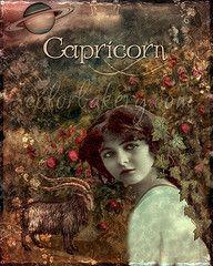Capricorn, Zodiac Renaissance Art Series