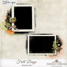 Get these Layered FrameArts FREE when you purchase Fall Days Collection by Indigo Designs In PSD, TIF and PNG formats  http://www.pickleberrypop.com/shop/product.php?productid=40236&page=1