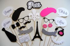 Paris Photo Booth Props . Parisian Photo Booth by ThePropMarket, $55.00