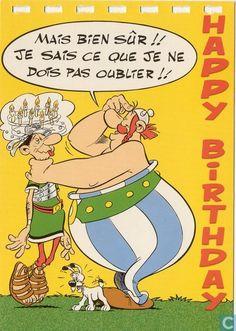 Carte postale - Bande dessinée: Asterix - Obelix
