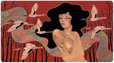 Find the latest shows, biography, and artworks for sale by Audrey Kawasaki. Influenced by manga comics and Art Nouveau, Audrey Kawasaki creates delicate figu… Audrey Kawasaki, History Of Illustration, Illustrations, Illustration Art, Art Nouveau Tattoo, Alphonse Mucha, Transformers Art, Silhouette, Art Fair