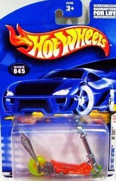 Mattel Hot Wheels 2001 First Editions Mo' Scoot No. 33/36 by 2001 Mattel. $0.01. 2001 First Editions Issue. Car # 33 of 36 in Issue (Sooo Fast)*collector #0045. 1:64 Scale Die cast. *ages 3 & up. This little scooter has a hand painted Hot Wheels logo and really cool yellow neon tires! It's Mo' of what you want in a Hot wheel classic!