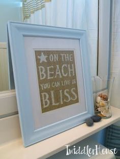 Burlap beach art