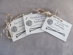 Personalized knitting tags by mountainstreetarts on Etsy, $5.00