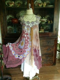 Luv Lucy crochet dress Lucy's Shady Daisies