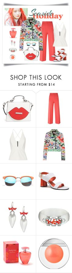 """Mary Katrantzou Grace Printed Leather Biker Jacket"" by romaboots-1 ❤ liked on Polyvore featuring Kendall + Kylie, M Missoni, Mason by Michelle Mason, Mary Katrantzou, SW Global, Alexis Bittar, Elizabeth Arden and Estée Lauder"
