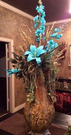 Floral by Decor & Artificial Floral Arrangements, Modern Flower Arrangements, Vase Arrangements, Floral Centerpieces, Fake Flowers, Silk Flowers, Dried Flowers, Floor Vase Decor, Alcoves