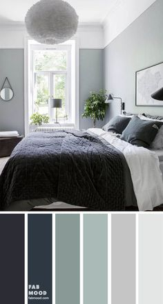 25 Best Color Schemes for Your Bedroom - sage and dark blue bedroom, colour pale. 25 Best Color Schemes for Your Bedroom – sage and dark blue bedroom, colour palette bedroom color Bedroom Colour Schemes Blue, Bedroom Colour Palette, Bedroom Wall Colors, Bedroom Decor, 70s Bedroom, Blue Colour Palette, Interior Colour Schemes, Paint Colours For Bedrooms, Green Bedroom Colors