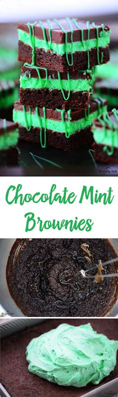This Chocolate Mint Brownies recipe is melt in your mouth amazing! Everyone raves about this dessert with the mint buttercream icing and chocolate mint icing.