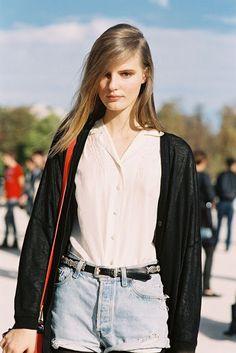 Tilda Lindstam, after Valentino, Tuileries, Paris, October 2012.