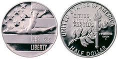Steve's Rare Coins has the Uncirculated and Proof 1992 Olympic Commemoratives in stock and ready to ship in original US Mint packaging! Real coins at competetive prices from the East Coast's largest wholesale distributor. 1992 Olympics, Rare Coins, Half Dollar, Personalized Items, Google