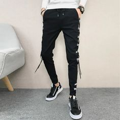 Slim Fit Hip Hop All Match Casual Pants – Benovafashion Slacks, Trousers, Harem Shorts, Spandex, Slim Fit Pants, Jogger Pants, Fashion Pants, Casual Pants, Hip Hop
