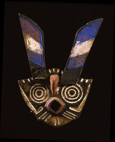 """Bwa mask with long ears, 27"""" h. - Thomas G. B. Wheelock Collection"""