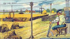 Farming. French postcards (1899-1910) reveal how artists thought we'd be living in 2000