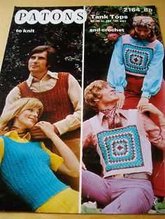 Early 70's His & Hers tank tops / vests