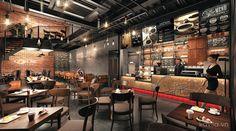 Coffee Shop Interior Design, Coffee Shop Design, Cafe Interior, Cafe Design, House Design, Cafe Restaurant, Restaurant Design, Cocktail Bar Design, Coffee Restaurants