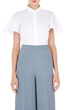 Valentino Flutter-Sleeve Shirt at Barneys New York