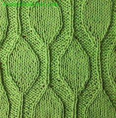Капель вязание стежки
