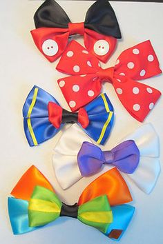Disney Fab Five Hair Bow set!  I can make these!