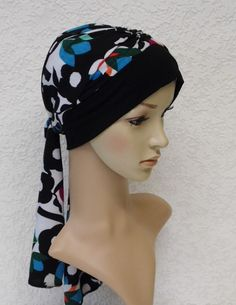 Turban with ties chemo head scarf bad hair by accessoriesbyrita