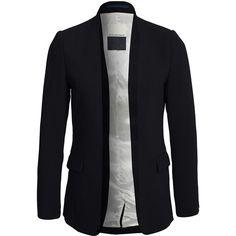 By Malene Birger Hundey Blazer ($465) ❤ liked on Polyvore featuring outerwear, jackets, blazers, blazer, black, womens-fashion, straight jacket, lined jacket, black straight jacket and tall jackets