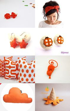 Orange Day by mónica campanhã on Etsy--Pinned with TreasuryPin.com #Pillows #Cushions #HomeDecor