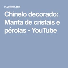 Chinelo decorado: Manta de cristais e pérolas - YouTube